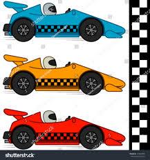 vector conceptual cartoon racing cars three stock vector 115640398