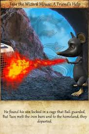 in 1st book of taos our wizard mouse succeed to gather all the