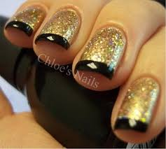 30 beautiful examples of gold glitter nail polish art