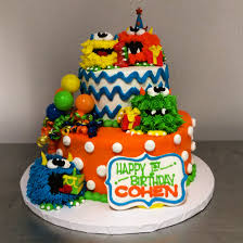 little monster first birthday party cake by stephanie dillon ls1