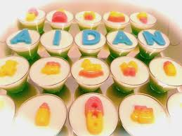 mommy and baby agar agar cupcakes