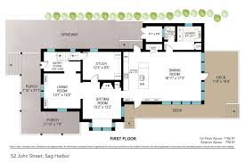 Waterfront Floor Plans by Saunders U0026 Associates Hamptons Real Estate Firm Serving