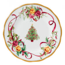 country roses tree bread butter plate