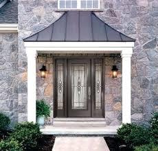 Front Door Awnings Wood Carefree Over Door Awning How To Build Wood Awning Over Door How