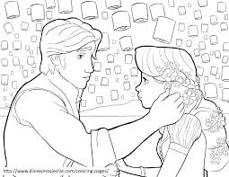 tangled coloring pages free printable disney princess tangled