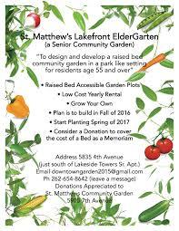 community garden layout lakefront eldergarten st matthew u0027s episcopal church