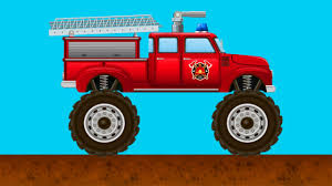 bigfoot meteor and the mighty monster trucks emergency cars fire truck the monster truck kids cartoons fire