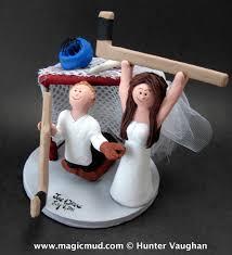 hockey cake toppers hockey scores on goalie groom wedding cake topper