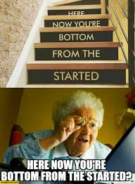 Grandma Meme - here now you re bottom from the started grandma reading stairs