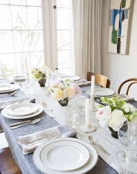 Dining Room Tablecloths Setting The Table With Parachute U0027s New Table Linens Emily Henderson
