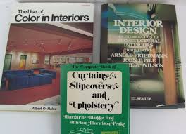vintage 60s 70s 80s interior design 3 pc hardcover book lot use