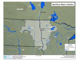 Map Of Major Rivers In The United States by Red River Basin Initiative Nrcs