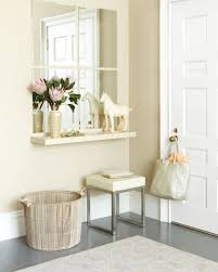 entryway with wall mirrors and shelf types of entryway shelves