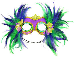 purple feather mask it 48035 mardi gras satin and feather half mask