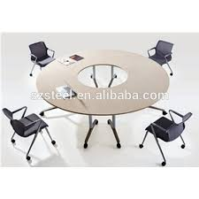 Folding Table With Wheels Round Office Folding Table With Wheels Foldable Table Office