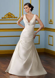 wedding dresses sale uk v neck v back lustrous satin court wedding dress online on