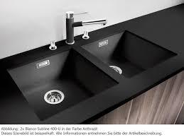 lack kchen schwarz blanco subline 400 u anthrazit silgranit küchenspüle schwarz