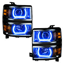 led lights for 2015 silverado oracle color changing headlight and foglight halo kits for chevy