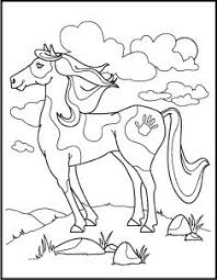 horse coloring worksheets horse animal