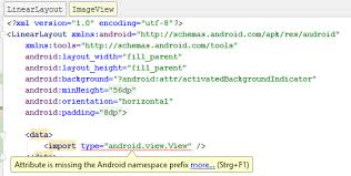 android missing layout width android layout databinding won t work stack overflow