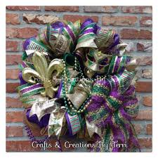 mardi gras mesh mardi gras wreath fleur de lis wreath from createdbyterri on