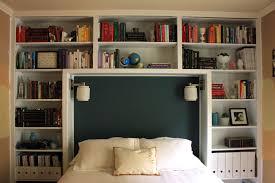 Bookshelf In Bedroom Bedroom Multiple Shelves High Headboard With Creative Mounted