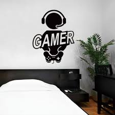 wall sticker decal children room gaming gamer joystick video
