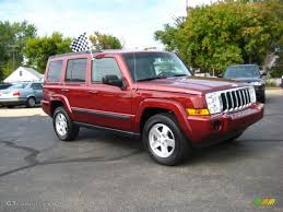 red jeep commander 2008 red rock crystal pearl jeep commander sport 4x4 36767177