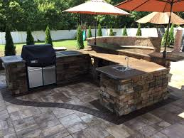 backyard designs with pool and outdoor kitchen li outdoor kitchens millers place backyard repair nyc long