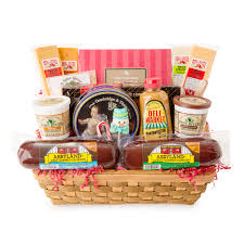 summer sausage gift basket party favorites gourmet summer sausage and cheese large