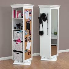 Display It Rotating Swivel Storage Mirror And Bookcase Bedroom