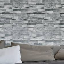 Washable Wallpaper For Kitchen Backsplash Compare Prices On Grey Stone Wallpaper Online Shopping Buy Low