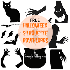 Free Printable Halloween Crafts by Outstanding Halloween Window Silhouettes 126 Halloween Window