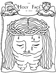 holy face coloring page u2013 immaculate heart coloring pages