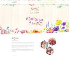 pastel floral art wordpress blog u0026 shop by dtbaker themeforest