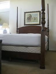 4 Poster Bed Frames Bombay Co Mahogany Finish 4 Poster Bed Frame Ebay