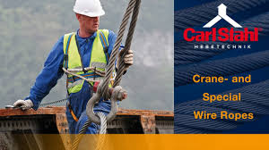 crane and special wire ropes carl stahl hebetechnik youtube