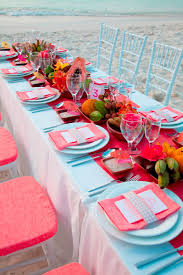 sandals weddings by martha stewart turquoise coral and bright