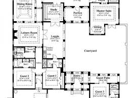 courtyard floor plans floor plan u shaped home plans with courtyard house pool floor