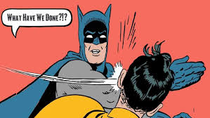 Batman And Robin Slap Meme - batman slapping robin meme babbletop