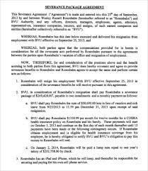 severance agreement templates 8 free word pdf documents