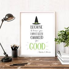 Wizard Of Oz Wall Stickers Because I Knew You I Have Been Changed For Good Wicked The