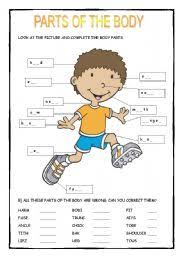 english worksheet parts of the body coop winter 2015