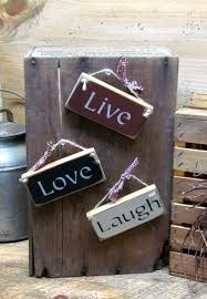 Live Laugh Love Signs Live Love Laugh Wooden Signs Rustic Hanging Sign Small Live