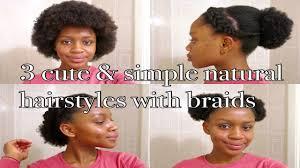tutorial 3 simple cute natural hairstyles medium length youtube