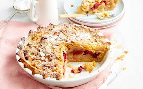 apple pear crumble winter fruit crumble pie with apple pear and rhubarb recipe food
