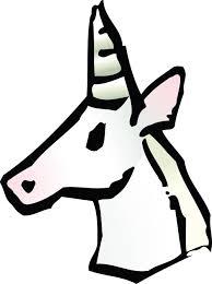 clipart of a unicorn avatar