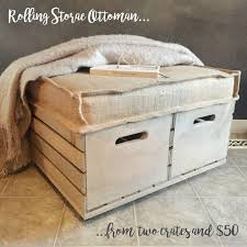 best 25 crate ottoman ideas on pinterest diy storage diy