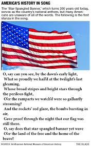 Our Flag Oh Say U2014 Can You Sing All Of The Words To The Star Spangled