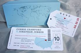 ticket wedding invitations airline ticket wedding invitation usa world maps airline ticket